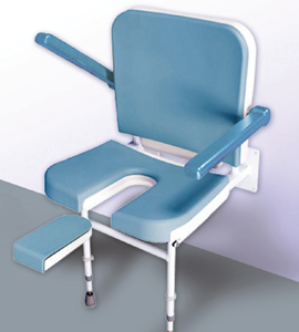 2-in-1 Wall Mounted Seat with Backrest and Armrests