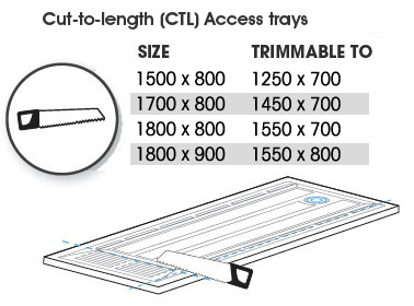 Cut to length Access Trays