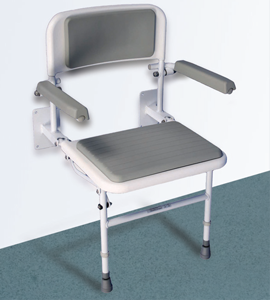 Standard Wall Mounted Seat with Backrest & Armrests