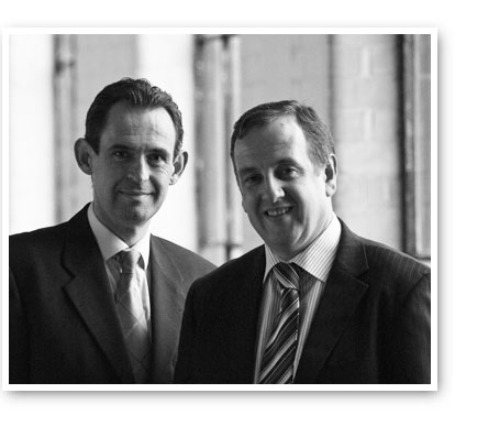 Above: Deron Pirie, Engineering Director and Nigel Blackburn, Founder and Managing Director.